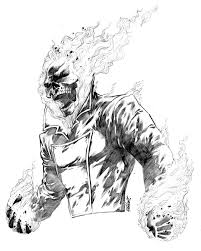 11x14 Commission Ghost Rider By Jerkmonger