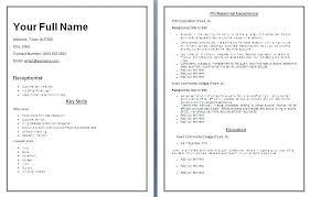 Secretary Receptionist Resume Medical Receptionist Resume Objective