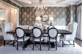 dark brown dining table with vintage french round fabric side intended for round back dining room chairs prepare