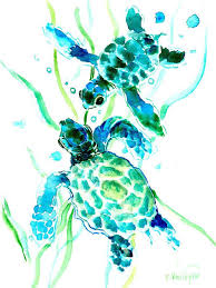 pictures of turtles to print. Interesting Print Sea Turtle Print Featuring The Painting Turquoise Indigo Turtles By  Suren Nersisyan Intended Pictures Of To K