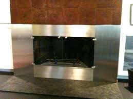 glass fireplace covers natural gas fireplace glass doors open or closed