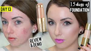 new estee lauder double wear radiant cushion stick foundation demo review 15 days of foundation you