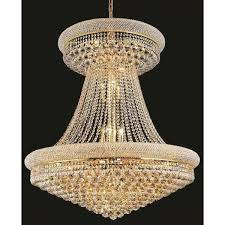 innovative large hanging chandelier elegant lighting gold royal cut 36 inch crystal clear large