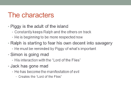 lord of the flies savages or not roger ralph piggy jack simon  5 the characters