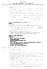 Mutual Fund Resume Samples Velvet Jobs Hedge Fund Resume Example