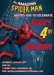 Spiderman Birthday Invitation Templates Free Free Editable Spiderman Birthday Invitation Elegant