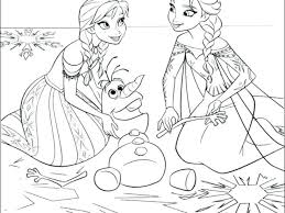 Coloring Pages Frozen Coloring Pages For Free Printable Anna And