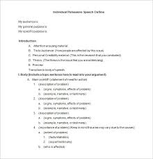 persuasive speech outline template problem solution edtech  pages persuasive speech outline template
