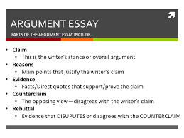 different parts of an argumentative essay what are the five parts of an argumentative essay synonym