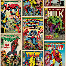 Marvel Comic Bedroom Marvel Comics Wallpaper And Borders Spiderman Hulk More Boys