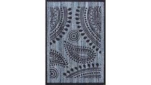 printed denim braided rug