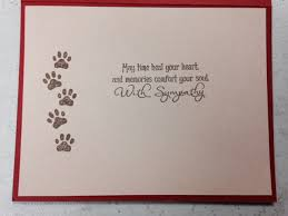 sympathy card pet pet sympathy card dog sympathy card or cat sympathy card with paw
