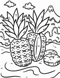 Small Picture Wild Pineapple in a Tropical Island Coloring Page Download