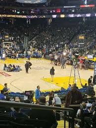 Oakland Arena Seating Chart Oracle Arena Section 109 Home Of Golden State Warriors