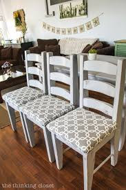 How To Reupholster A Chair Seat The NoMess Method The Thinking New Reupholstered Dining Room Chairs