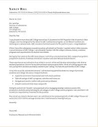 college admissions letter of recommendation sample cover letter reference code sample for college admissions packed