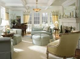 ... Living Room, French Country Living Room With Lamp And Carpet And Wooden  Floor And White