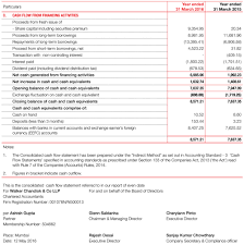 Consolidated Cash Flow Statement Igaap Glenmark Annual
