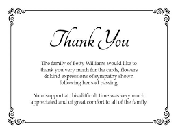 Thank You After Funeral Acknowledgement Cards After Funeral Bio Kinder