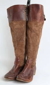 timberland womens uk size 7 5 brown leather thigh high boots