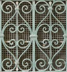 Wrought Iron Ornaments Metal Fence Ornate Ornament Curls Curl Twig