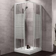 Plumbsure Square Shower Enclosure with White Frame & Double .