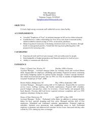 How To Make A Resume For A Restaurant Job Examples Of Resumes For Restaurant Jobs How To Write A Resume Job 41