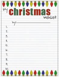 Printable Christmas Gift List Template Printable Christmas Wish Lists Amys Wandering