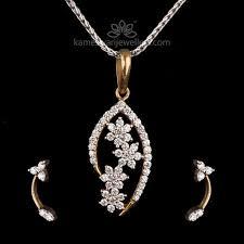 floret cer diamond pendant set