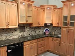 Dark Granite Kitchen Lovely Kitchen Color Schemes With Light Wood Cabinets And Dark