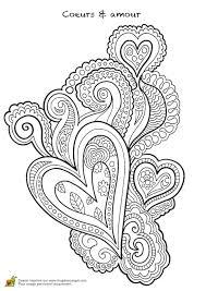Coloriage Coeur Pour Les Amoureux Page 1