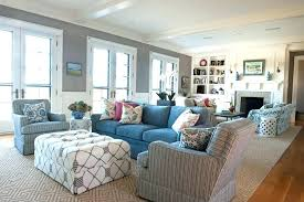 coastal living room decorating ideas.  Ideas Blue Sectional Living Room Coastal Interior Decorating  Design Ideas Added Sofa Throughout Coastal Living Room Decorating Ideas C