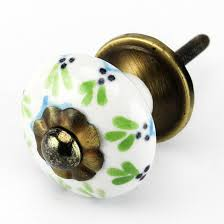 Painted Ceramic Cabinet Knob Drawer Pulls Handles Set4pc