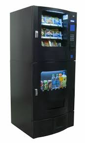 Compact Combination Vending Machine Enchanting Snak Mart SM48 Black Combo Vending Machines Snack And Soda Combo