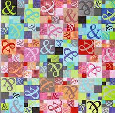 Ampersand Quilt - modern applique & pieced quilt PATTERN - Emma ... & Image is loading Ampersand-Quilt-modern-applique-amp-pieced-quilt-PATTERN- Adamdwight.com