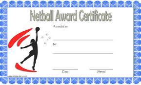 Teamwork Certificate Templates Netball Certificate Templates Word Biya Templates