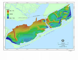 Bathymetric Map Of The Apalachicola Bay Estuary See Also