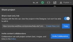 Share A Projects Read Only Link Webflow University
