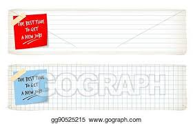 Vector Illustration Two Banners With Lined Paper Graph Paper And