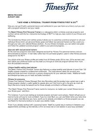 Fitness Cover Letters Personal Trainer Cover Letter Examples No With