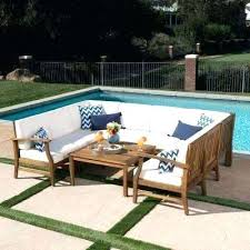 teak sectional outdoor furniture wood patio sectional cognowear decorating styles 2018