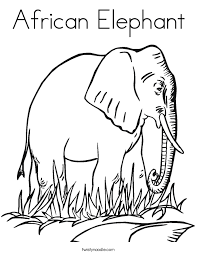 Small Picture African Elephant Coloring Page Twisty Noodle