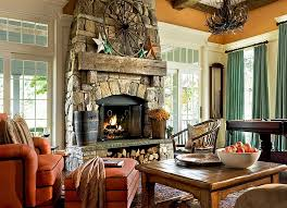 ... Gorgeous stone fireplace with storage space for logs underneath  [Design: Crisp Architects]