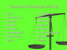 persuasive essay 9 common transition words