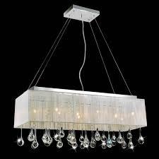 retro odeon glass fringe rectangular chandelier lighting