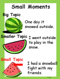 Small Moment Watermelon Anchor Chart Inquisitive Watermelon Vs Seed Anchor Chart Small Moment