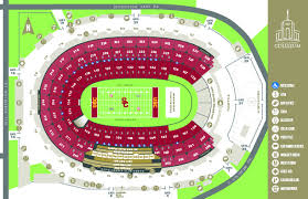 La Rams Seating Chart Coliseum Maps Los Angeles Coliseum