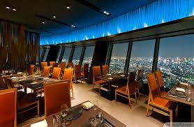 Restaurant Design Ideas Contemporary Sky Restaurant With Beautiful View Tokyo Httpbestpickr