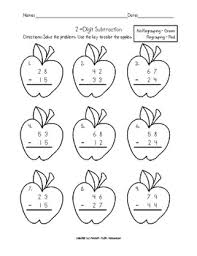 double digit subtraction without regrouping worksheets 5 subtraction with regrouping coloring worksheets termolak on subtraction picture worksheets