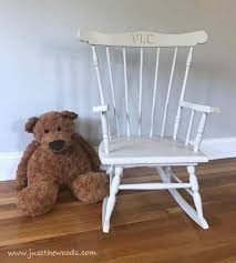 how to paint a child s vintage rocking chair the easy way by just the woods